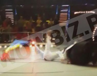 Imagini terifiante! Actorul Bogdan Stanoevici se prăbuseste cu calul în arena Circului!...