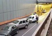 Accident grav în Pasajul Obor, în această dimineață! Au fost implicate cinci mașini