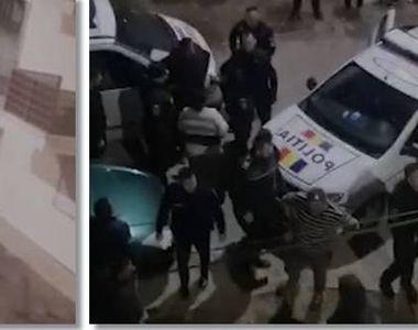 Bătaie cu bâte și săbii în Arad, din cauza unui sărut. Un polițist a fost prins în scandal