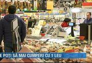Ce poți să mai cumperi cu 1 leu din supermarket în România anului 2019
