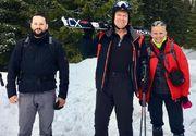 Preşedintele Klaus Iohannis, din nou la schi - FOTO