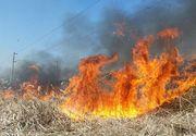 Incendiu de vegetaţie în Prahova. S-a extins la o casă şi câteva anexe gospodăreşti
