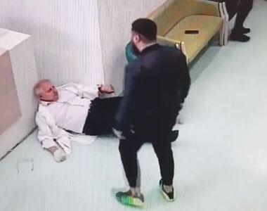 Imagini halucinante surprinse la Galați! Un medic a fost atacat de un tânăr pe holurile...