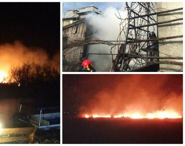 România ARDE! Incendii uriașe în mai multe zone! E pericol URIAȘ! Pompierii se luptă de...