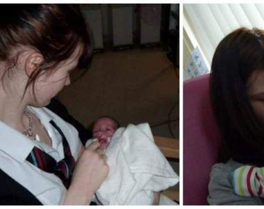 Își făcea temele când s-a trezit că naște! O elevă de clasa a VIII-a a devenit mamă...