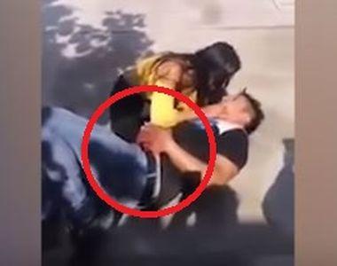 Imagini șoc! O femeie își ține iubitul în brațe, după ce l-a înjunghiat:...