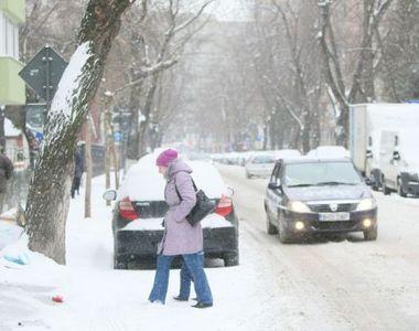 Iarna a revenit în România! În unele zone, zăpada depășește 15 centimetri