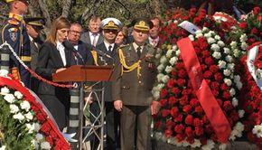 Ziua Eroilor Turci - Ceremonie de comemorare! Excelenţa Sa, Füsun Aramaz, ambasadorul Republicii Turcia în România a ţinut un discurs emoţionant!