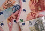 Euro a crescut spre pragul de 4,76 lei