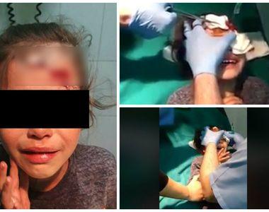 Părinții fetiței pe care patroana unui magazin a lovit-o cu borcanul de bulion în cap...