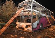 26 de morţi și 30 de răniți în centrul Chinei, după ce un autocar a fost mistuit de flăcări