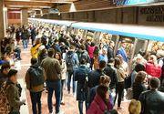 Aglomeraţie la metrou şi circulaţie îngreunată. Defecţiune la un tren care mergea spre Pipera, pe Magistrala 2