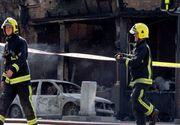 Doi muncitori la o exploatare forestieră, la spital după ce vagonul de dormit în care se aflau a luat foc