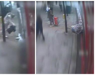 Imagini CUMPLITE! Scena crimei de la Dristor se repetă! O femeie a fost împinsă în fața...
