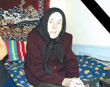 """A murit tanti Maria, cea mai bătrână femeie din Văleni! """"Mai avea puțin și..."""