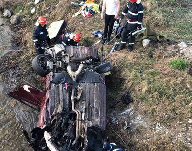 Accident teribil în Mehedinți! Două persoane au fost transportate la spital