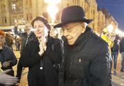 Filosoful Mihai Şora, la protest în centrul municipiului Timişoara: O justiţie care nu e independentă, nu e justiţie. Laura Kovesi reprezintă Justiţia, cu majusculă, şi de Justiţie lor le este frică