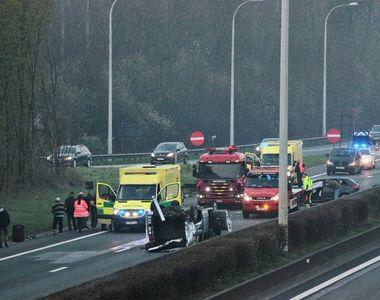 Şase români au fost răniţi uşor într-un accident în Belgia