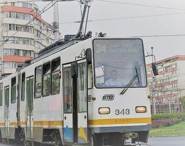 Circulaţia tramvaielor, blocată pe şoseaua Mihai Bravu din Capitală. O autospecială ISU...