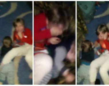 Scene de o VIOLENȚĂ RARĂ la Galați! Un tată s-a filmat în timp ce își lovește fără milă...