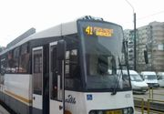 Circulaţia liniei de tramvai 41 va fi suspendată, în lunile iulie şi august, între Podul Grant şi terminalul Ghencea