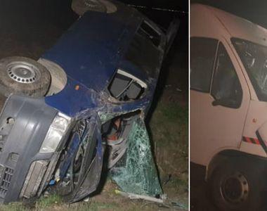 Accident foarte grav în Arad! Două microbuze s-au ciocnit duminică noapte