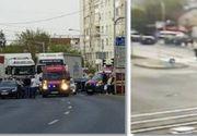 VIDEO | Mai mulți pietoni, LOVIȚI din PLIN pe o trecere de pietoni din Timișoara!
