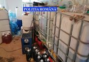 Vrancea: Peste 8.000 de litri de alcool contrafăcut, confiscat în urma unor percheziţii