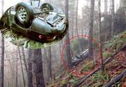Se plimba prin pădure când a dat peste o mașina răsturnată. Șocul pe care l-a avut