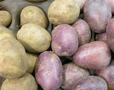 Piețe pline de cartofi noi. Prețurile sunt extrem de mari