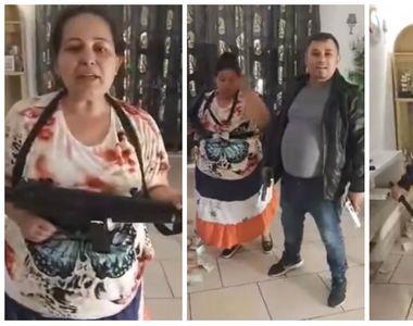 Petrecere cu mitraliere și pistoale, transmisă LIVE pe Facebook de către o familie de...