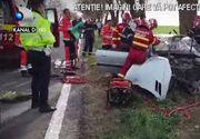VIDEO   Accident cu masina primita cadou de majorat