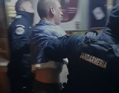 VIDEO | Recidivist eliberat recent, filmat in timp ce agresa un politist