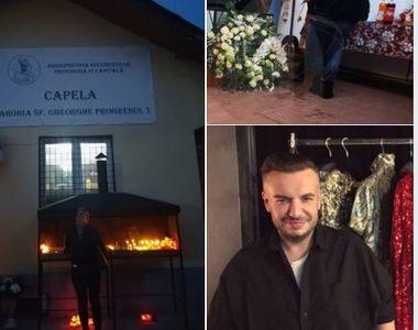 Primele imagini de la cimitirul Progresul din Capitală, la priveghiul designerului...