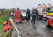 Accident rutier pe DN 1, între o maşină şi un autocar plin cu turişti! O tânără de 24 de ani a murit