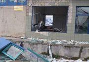 Anchetă a poliţiştilor şi procurorilor din Arad, după ce un bancomat a fost aruncat în aer cu un dispozitiv artizanal