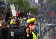Tensiuni la Paris cu ocazia Marșului de 1 mai