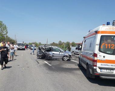 VIDEO. Accident cu sase raniti la iesirea din localitatea Mihail Kogalniceanu