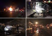 Incendiu la un restaurant din localitatea Afumaţi! Focul a izbucnit după ce o maşină a intrat într-o ţeavă de gaz