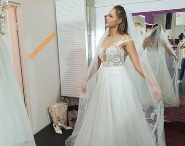 Ana Otvoș a îmbrăcat rochia de mireasă înaintea lui Beatrice Olaru! Cum arată...