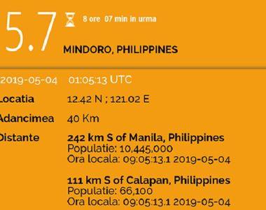 Cutremur de 5.7 grade pe scara Richter! Seismul a produs panică printre oameni