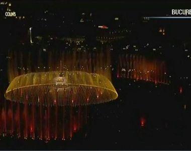 VIDEO | Simfonia Apei în Capitală, sâmbătă noapte! Show-ul spectaculos de apa, lumini...