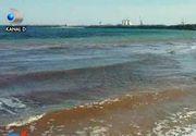 VIDEO | Fenomen ciudat pe litoral. Marea Neagra a devenit rosie