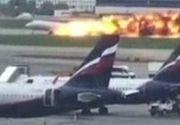 VIDEO. Imagini ca din infern cu avionul care a luat foc in Rusia. Sunt 41 de morti