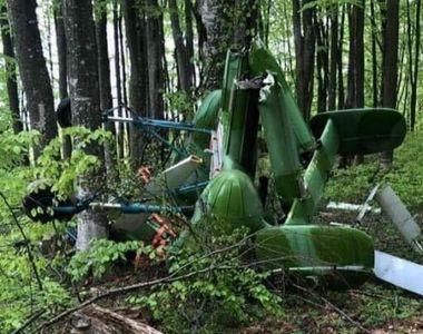 Elicopter prăbuşit în judeţul Maramureş. Un bărbat a fost găsit mort lângă aparatul de...