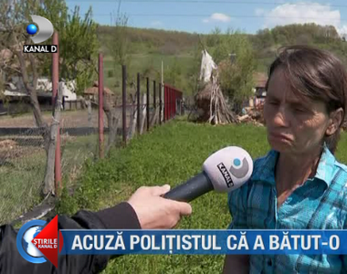 VIDEO| Acuză polițistul că a bătut-o