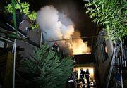 Incendiu puternic la două imobile din Voluntari