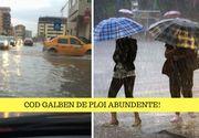 Cod galben de ploi în şapte judeţe