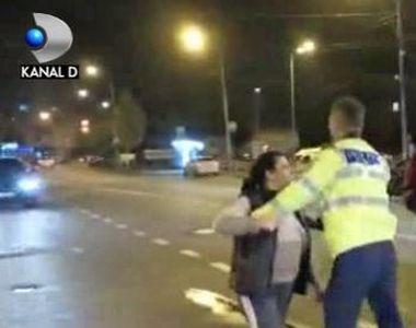 VIDEO | Accident cu amanta, cearta cu sotia