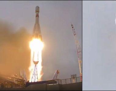 """Racheta """"Soiuz"""" a fost lovită de fulger chiar în momentul lansării"""